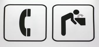 Sens de signe Images libres de droits