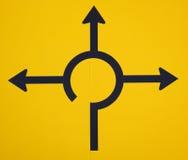 Sens de signe de route Images libres de droits
