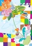 Sensação abstrata da flor do Doodle Fotografia de Stock
