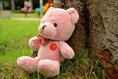 Sensação cor-de-rosa da boneca do urso só Fotografia de Stock