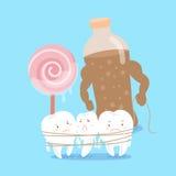 Sensação do dente dos desenhos animados infeliz Fotografia de Stock Royalty Free