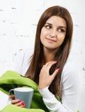 Sensação ela mesma da rapariga fria Imagem de Stock Royalty Free