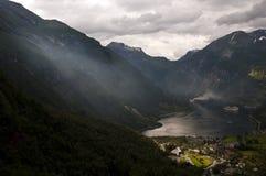 Sensação estranha no fjord foto de stock