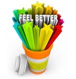 Sensação melhor - a medicina da prescrição bate a doença Fotografia de Stock Royalty Free