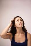 Sensación china asiática de la señora desconcertada Fotos de archivo