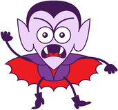 Sensación de Halloween Drácula furiosa y protesta stock de ilustración
