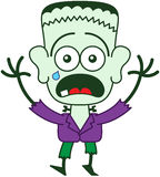 Sensación de Halloween Frankenstein asustada Foto de archivo libre de regalías