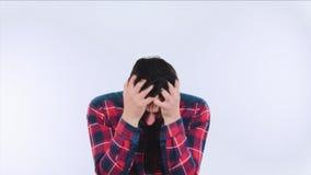 Sensación de la depresión almacen de video