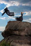 Sensación de la libertad en el viento Fotografía de archivo