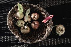 Sensación del vintage de las manzanas Foto de archivo libre de regalías