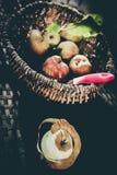 Sensación del vintage de las manzanas Imagen de archivo
