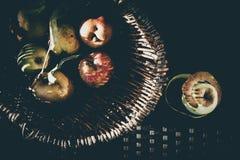 Sensación del vintage de las manzanas Foto de archivo