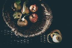 Sensación del vintage de las manzanas Fotos de archivo