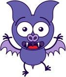 Sensación púrpura del palo sorprendida y asustada Imagen de archivo libre de regalías