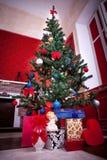 Sensasional vintage Christmas interior. Studio shot Royalty Free Stock Image
