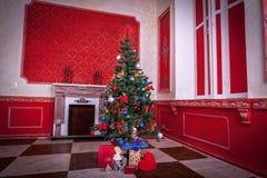 Sensasional vintage Christmas interior. Studio shot Stock Image