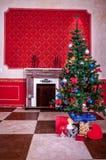 Sensasional vintage Christmas interior. Studio shot Royalty Free Stock Images