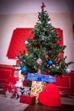 Sensasional vintage Christmas interior. Studio shot Stock Photos