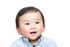 Sensation asiatique de bébé si heureuse photographie stock