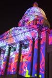 Sensation de couleurs sur un bâtiment conçu colonial Images stock