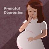 Sensation de femme enceinte inconfortable illustration stock