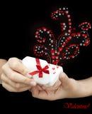Sensation de Valentin - amour dans l'oreille Photographie stock libre de droits