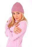 sensation froide blonde magnifique Photographie stock
