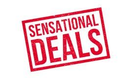 Sensational Deals rubber stamp Stock Images