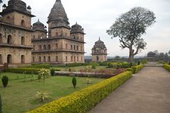 The sense of freedom. The historic town of Orchha, nestled on the banks of river Betwa, was founded in the 16th century by the Bundela Rajput Chief, Rudra Pratap Royalty Free Stock Images