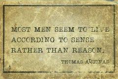 Sense or reason Aquinas Stock Images