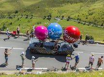 Senseo车-环法自行车赛2014年 免版税库存照片