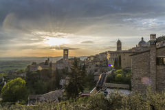 Senset in Assisi Royalty Free Stock Photo