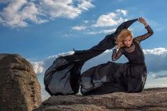 Sensibilità della libertà nel vento Fotografia Stock Libera da Diritti