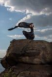 Sensibilità della libertà nel vento Fotografie Stock