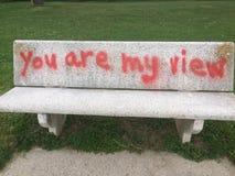 Sensibilità di amore su Seat! immagine stock