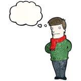 Sensible man cartoon Stock Photo