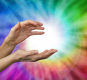 Sensing healing energy Royalty Free Stock Photography