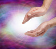 Sensing Vortex Healing Energy Stock Photography