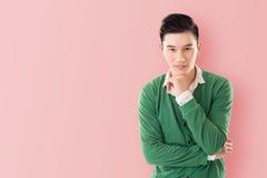 Sensitive Asian young man Royalty Free Stock Image