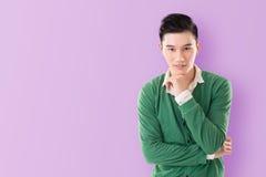 Sensitive Asian young man Stock Photo