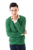 Sensitive Asian young man Stock Photos
