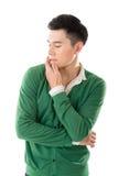 Sensitive Asian young man Stock Image
