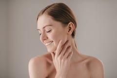Sensitive care for a luminous skin. Stock Photo