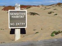 Sensitive habitat sign Royalty Free Stock Photo