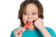 Sensitive teeth Stock Photo