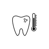Sensitive tooth line icon. Dental and medicine, temperature tooth vector graphics, a linear pattern on a white background, eps 10 Vector Illustration