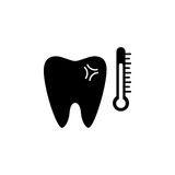 Sensitive tooth solid icon. Dental and medicine, temperature tooth vector graphics, a filled pattern on a white background, eps 10 Royalty Free Stock Photography