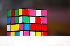 Sensitivity and brain development. Game. Multi-colored squares Royalty Free Stock Photography