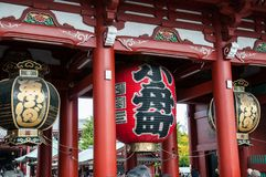 Senso籍佛教寺庙的入口在东京 图库摄影