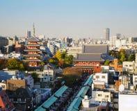 Senso籍寺庙在浅草,东京,日本。 图库摄影